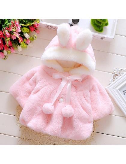 Kız Bebek Kapüşonlu Tavşan Hırka