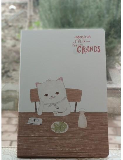 Düşünen Kedi Defter Model 3 Küçük Boy