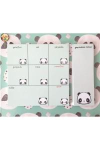 Pandalı Haftalık Tarihsiz Planner