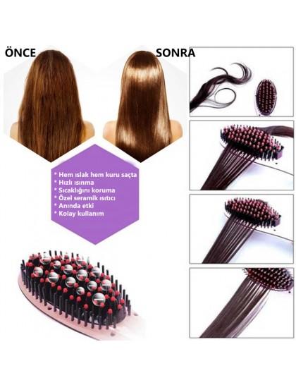Elektrikli Saç Düzleştirici Tarak