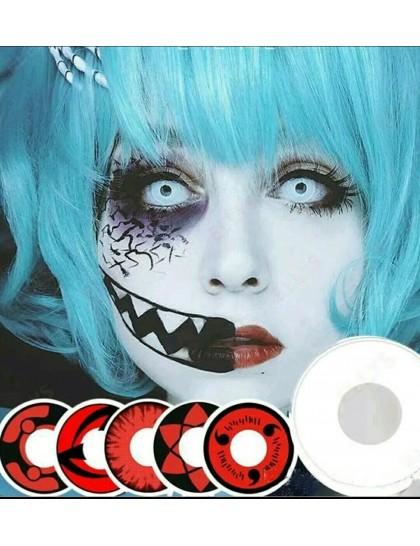 Crazy Halloween Tarzı   Büyük Göz Circle Yıllık Derecesiz Lens