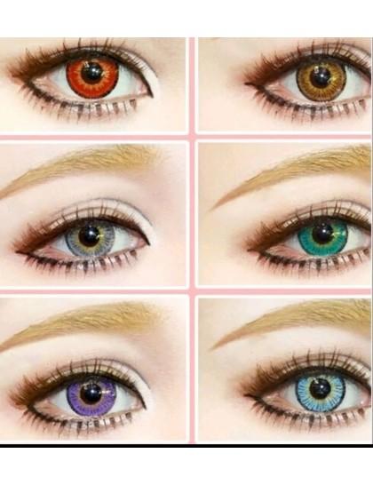Fever Büyük Göz Circle Yıllık Derecesiz Lens