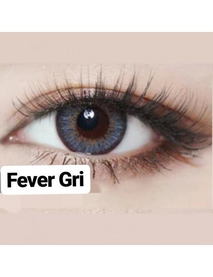 Fever Büyük Göz Circle Yıllık Derecesiz Lens Gri