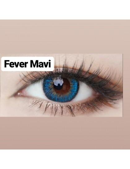 Fever Büyük Göz Circle Yıllık Derecesiz Lens Mavi