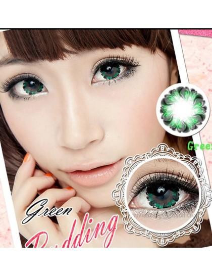 Pudding Yeşil Circle Lens 14.4 mm ( Derecesiz)