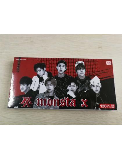 Monsta X 121 Parça Fotokart & Sticker Seti