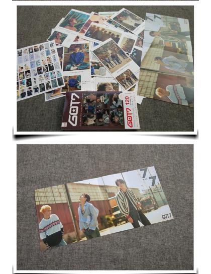 Got7 121 Parça Fotokart & Sticker Seti