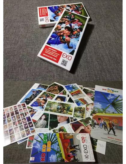 EXO 121 Parça  Fotokart & Sticker Set