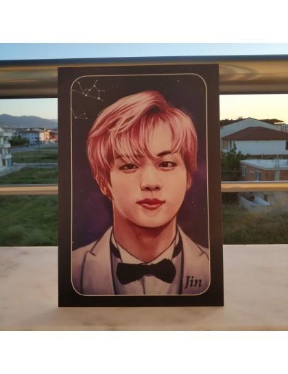 BTS Ahşap Poster Jin