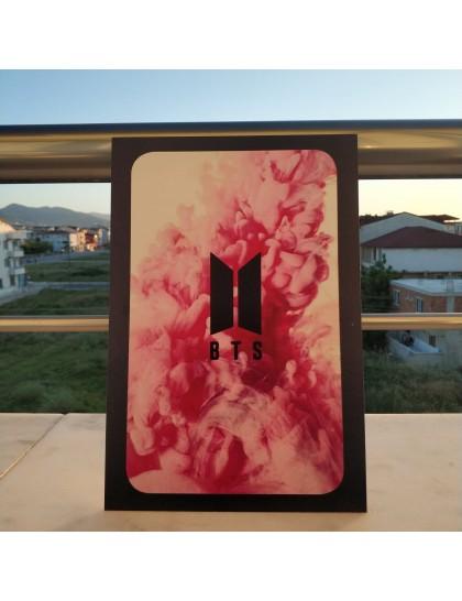 BTS Ahşap Poster