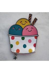 Sevimli Dondurma Cüzdan