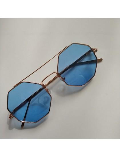 Sekizgen Polarize Gözlük Mavi
