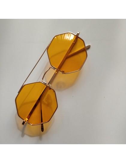 Sekizgen Polarize Gözlük Sarı