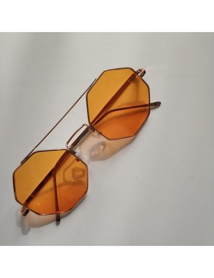 Sekizgen Polarize Gözlük Turuncu