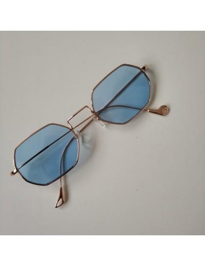 Altıgen Polarize Gözlük Mavi
