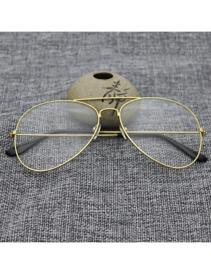 Retro Bay & Bayan Derecesiz Gözlük Altın