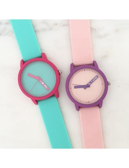 Şeker Renkler Silikon Saat