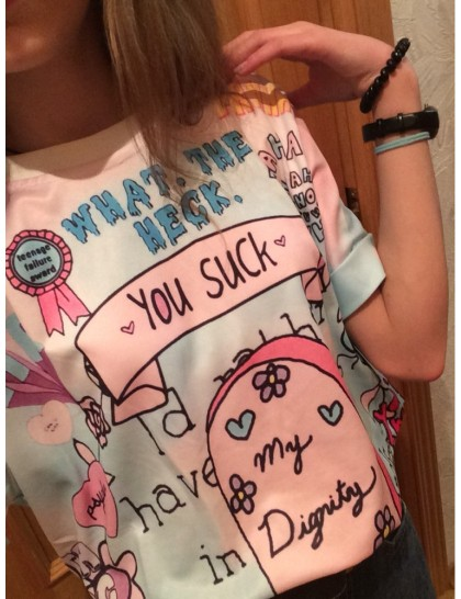 Hiawatha Pink & Blue Tişört